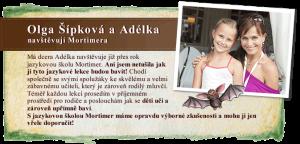 Olga Šípková s Adélkou